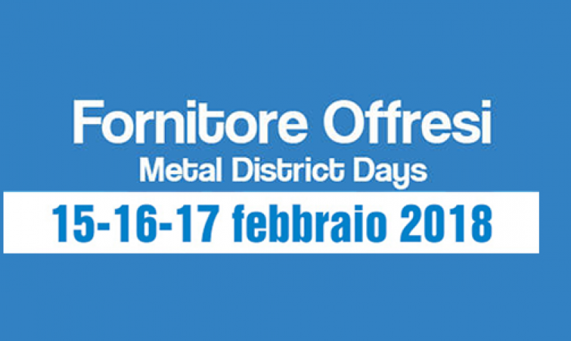 "PUNTO INOX SERVICE SRL exposes to ""Fornitore Offresi 2018"""